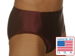 Edge Maroon Lycra Briefs