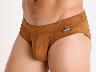 Complete the look: Modus Vivendi Vegan Suede Laser Cut Brief Camel