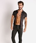 Modus Vivendi Vegan Suede Shirt Black, view 1
