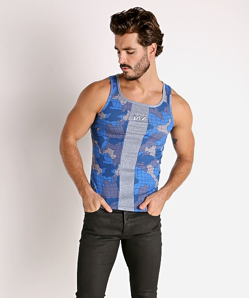 Modus Vivendi Trapped Camo Tank Top Blue