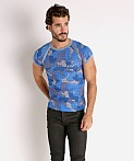 Modus Vivendi Trapped Camo T-Shirt Blue, view 2