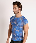 Modus Vivendi Trapped Camo T-Shirt Blue, view 3