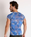 Modus Vivendi Trapped Camo T-Shirt Blue, view 4