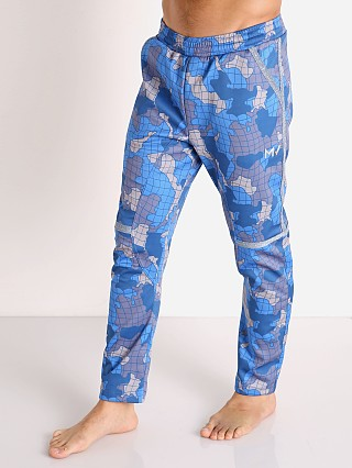 Model in blue Modus Vivendi Trapped Camo Lounge Pant
