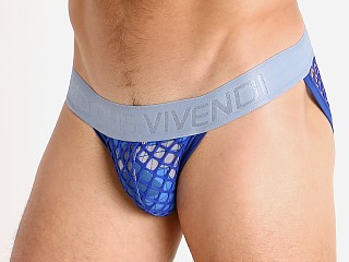 Modus Vivendi Trapped Camo/Fishnet Tanga Sports Brief Blue