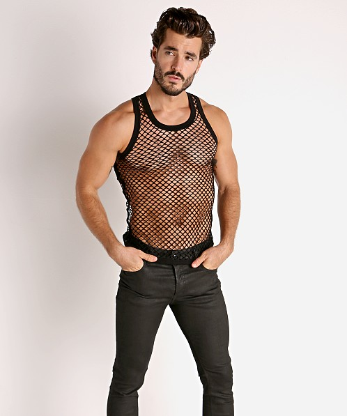 Modus Vivendi Trapped Fishnet Tank Top Black