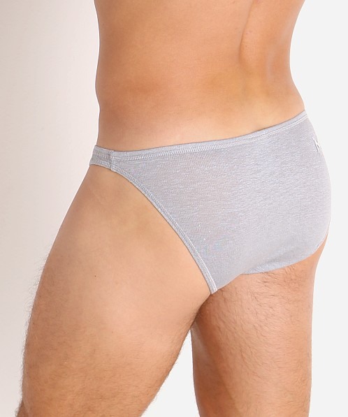 Modus Vivendi Smooth Hemp Super Low Rise Brief Smoke Grey
