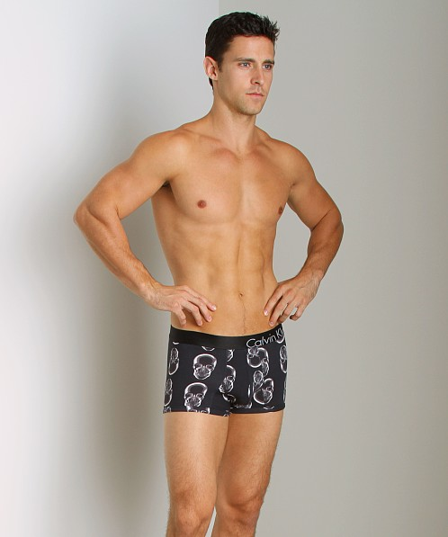 Calvin Klein Bold X-Ray Cotton Trunk Skull Black