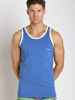 Diesel Bold Stripe Simon Tank Top Green & Blue