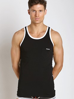 Diesel Bold Stripe Simon Tank Top Black & Grey