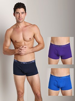 Emporio Armani Jersey Cotton 3-Pack Trunk Marine/Violet/Royal