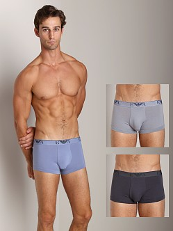 Emporio Armani Stretch Cotton 3-Pack Trunk Lead/Steel/Charcoal