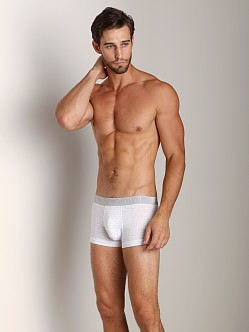 Emporio Armani All Over Logo Stretch Cotton Trunk White