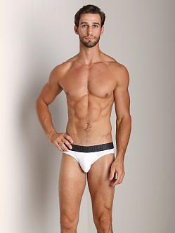 Emporio Armani Big Eagle Microfiber Brief White