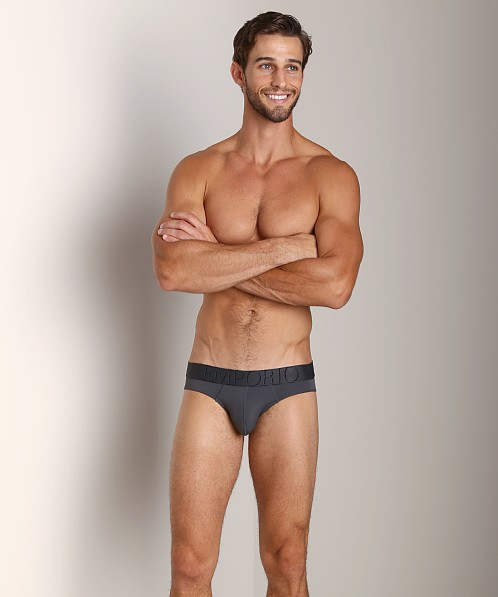 Emporio Armani Big Eagle Microfiber Brief Charcoal