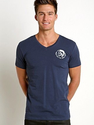 Diesel Mohican Michael V-Neck Shirt Navy
