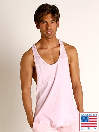 Model in light pink Go Softwear Moderne Classic Muscle Tank Top