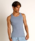 Go Softwear Moderne Ribbed Tank Top Slate Blue, view 2