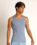 Go Softwear Moderne Ribbed Tank Top Slate Blue, view 3