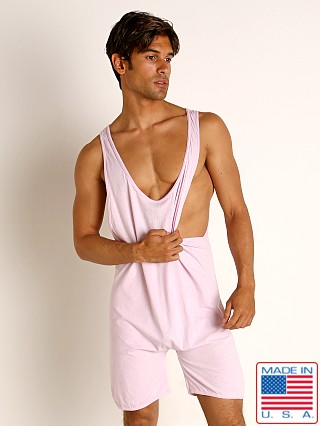 Model in light pink Go Softwear Moderne Step-In Lounge Bodysuit
