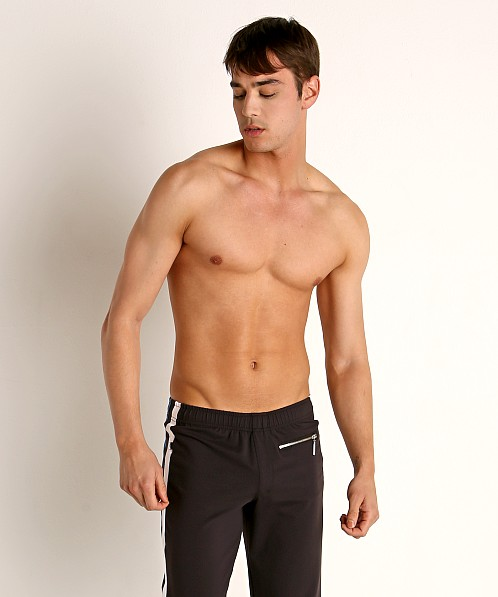 Sauvage Tactel Nylon Lycra Workout Pants Black