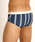 Sauvage Racer Swim Brief Marine Stripe, view 4