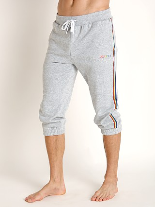 2xist Pride Rainbow Trim Cropped Jogger Heather Grey