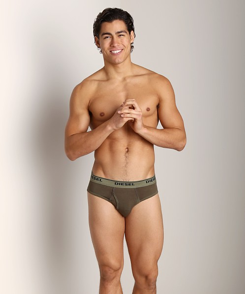 Diesel Spray Dyed Blade Briefs Army Green