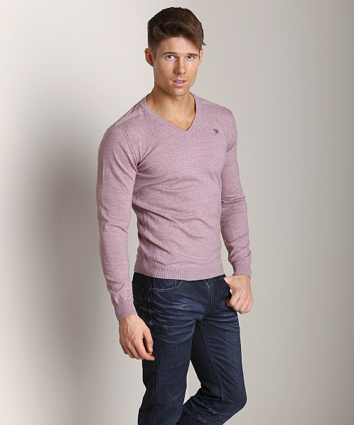Diesel K-Ben V-Neck Sweater Dark Salmon