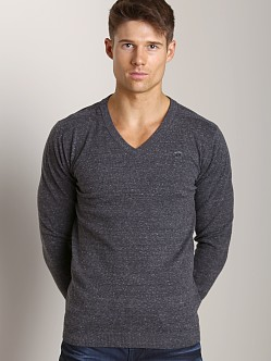 Diesel K-Ben V-Neck Sweater Dark Charcoal