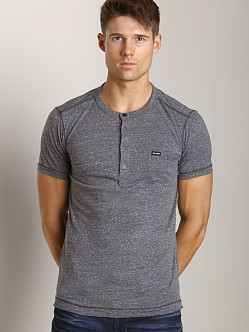 Diesel T-Cosme Short Sleeve Henley Cold Stone