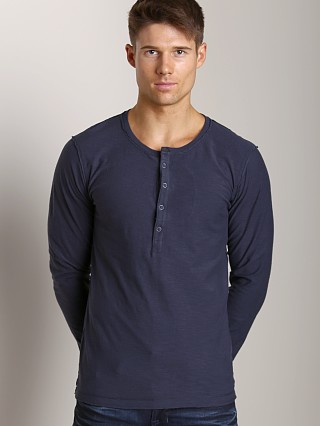 Diesel T-Canopyl Long Sleeve Henley Navy