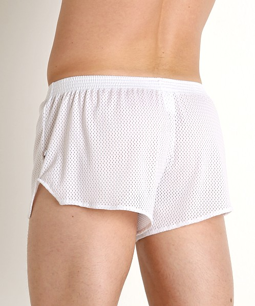 American Jock Team Mesh Short White
