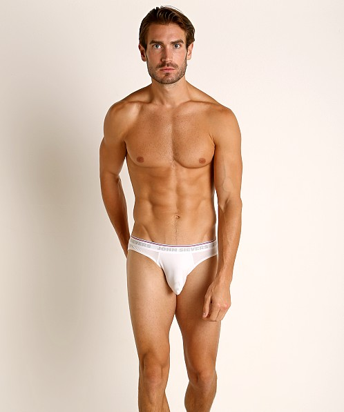 John Sievers RETRO Natural Pouch Brief White