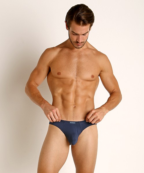 John Sievers LUX Natural Pouch Low Rise Brief Navy