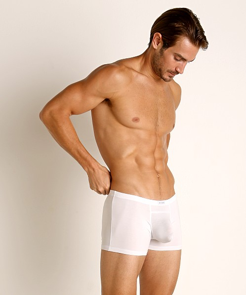 John Sievers LUX Natural Pouch Low Rise Trunk White
