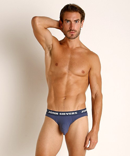John Sievers STRETCH MESH Natural Pouch Brief Navy