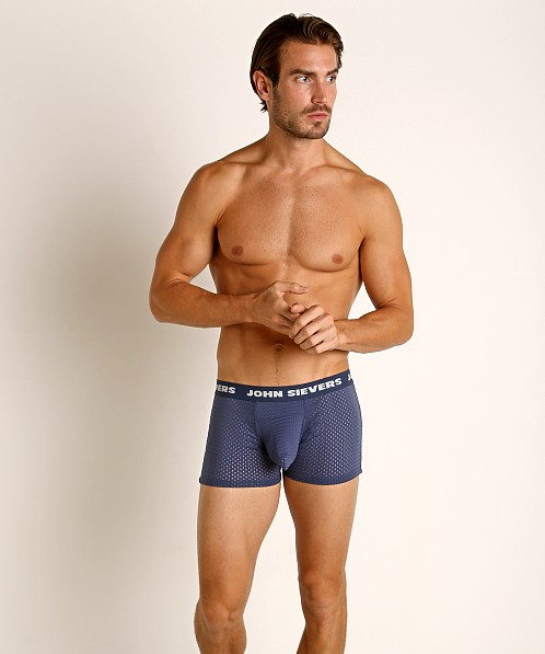 John Sievers STRETCH MESH Natural Pouch Boxer Briefs Navy