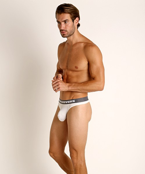 John Sievers SLEEK Natural Pouch Thong White