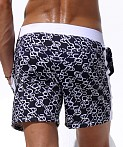 Rufskin Monogram Sports and Swim Shorts Indigo, view 4