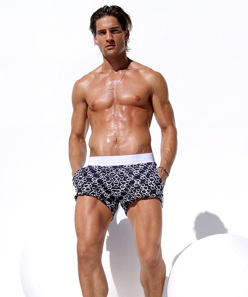 Rufskin Monogram Sports and Swim Shorts Indigo