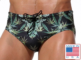 Rufskin Canganjo Drawcord Swim Brief Hemp Flower Print
