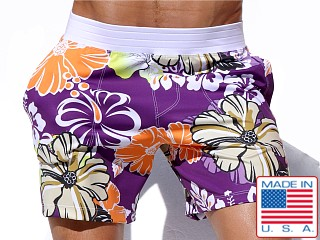Rufskin Hibis Sports and Swim Shorts Multi Color Print