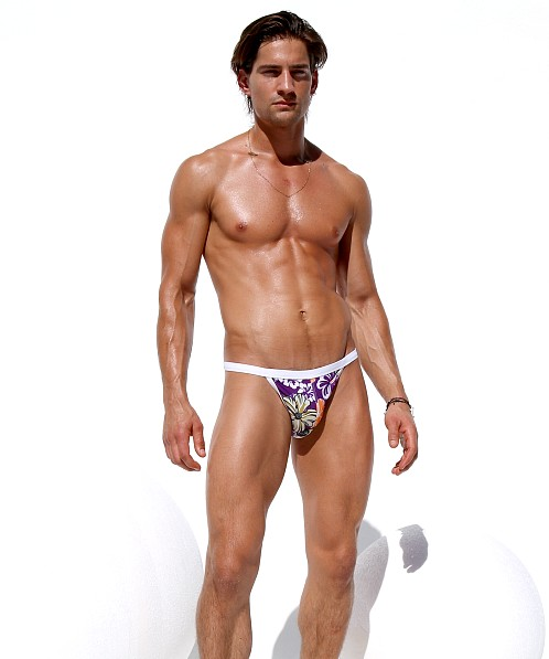 Rufskin Etana Euro-Cut Swim Brief Multi Color Print