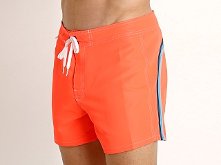 "Model in fluo orange 8 Sundek 14"" Classic Low-Rise Boardshort"