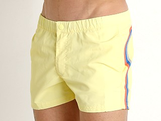"Sundek 13"" Elastic Waistband Surf Trunk Lemonade"