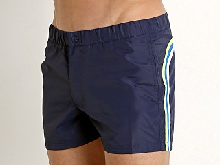 "Sundek 13"" Elastic Waistband Surf Trunk Dark Blue"