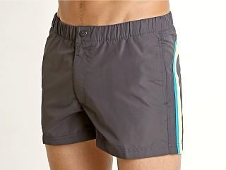 "Sundek 13"" Elastic Waistband Surf Trunk Midnight 13"