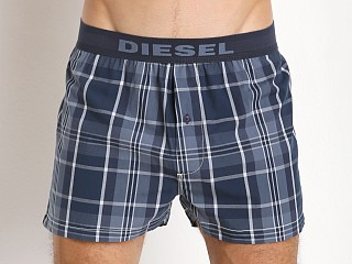 Diesel Plaid Nonfa Lounge Shorts Blue