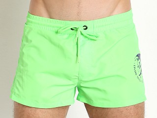 Diesel Mohican Logo Sandy Swim Shorts Lime Green